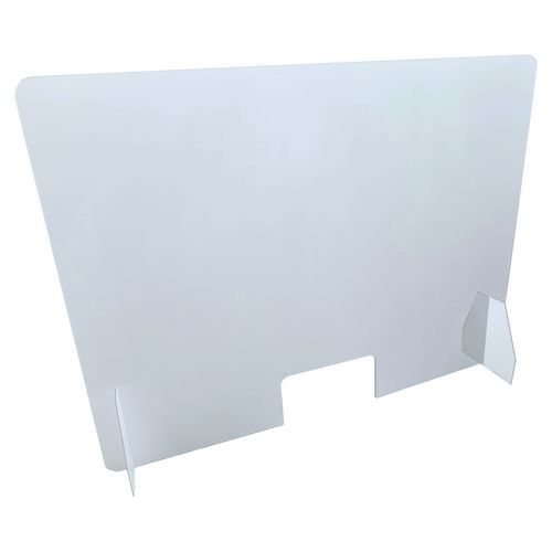 Ochranná přepážka z plexiskla JD2, 75 x 100 x 25 cm