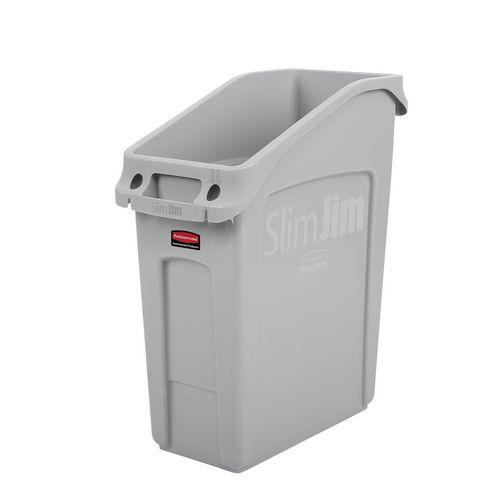 Plastový odpadkový koš Rubbermaid Slim Jim Under Counter na tříděný odpad, objem 49 l, šedý - Prodloužená záruka na 10 let