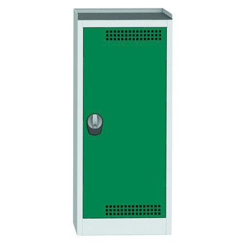 Skříň na uskladnění chemikálií, 1180 x 505 x 500 mm, šedá/zelená