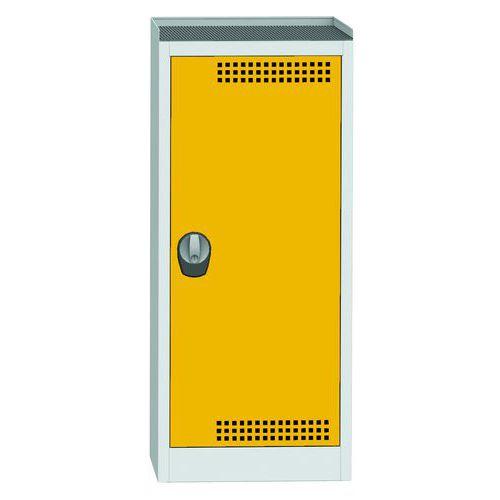 Skříň na uskladnění chemikálií, 1180 x 505 x 500 mm, šedá/žlutá