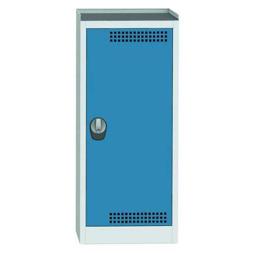 Skříň na uskladnění chemikálií, 1180 x 505 x 500 mm, šedá/modrá