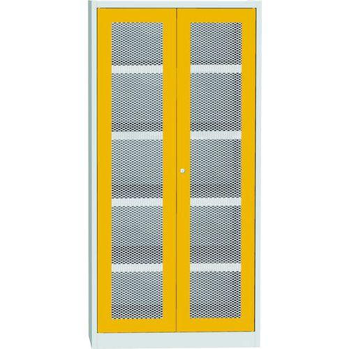 Skříň s drátěnými dveřmi na uskladnění chemikálií, 1950 x 950 x