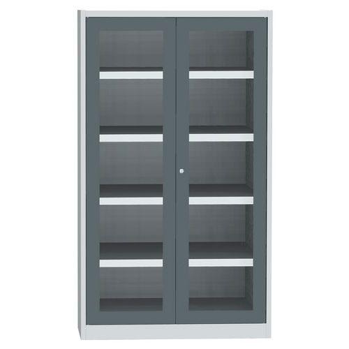 Skříň se skleněnými dveřmi na uskladnění chemikálií, 1950 x 1200