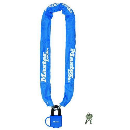 Řetězový zámek na kolo Master Lock 6mm, modrý