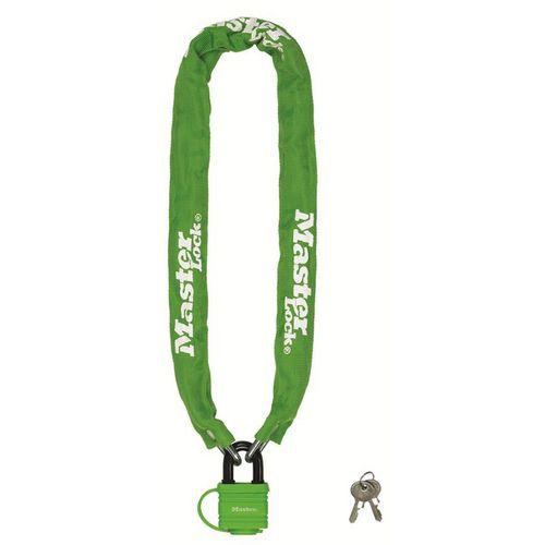 Řetězový zámek na kolo Master Lock 6mm, zelený