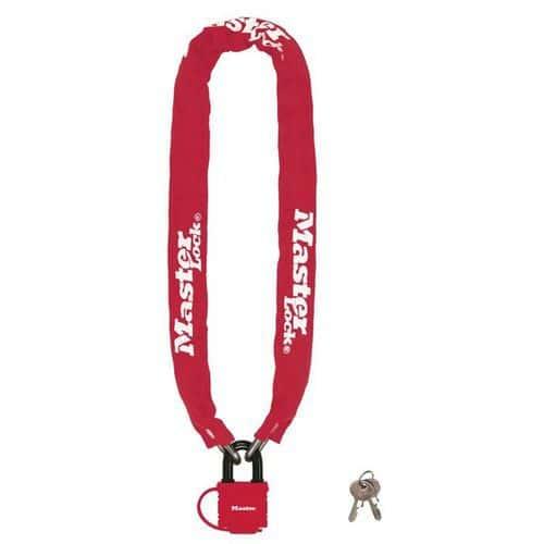 Řetězový zámek na kolo Master Lock 6mm, červený