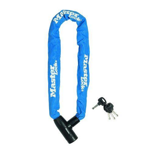 Řetězový zámek na kolo Master Lock 8mm, modrý