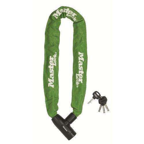 Řetězový zámek na kolo Master Lock 8mm, zelený