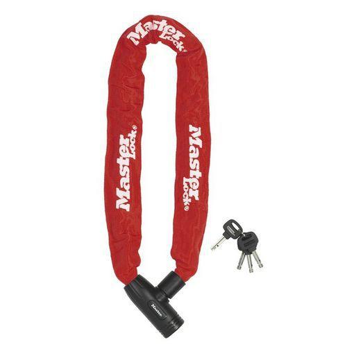 Řetězový zámek na kolo Master Lock 8mm, červený