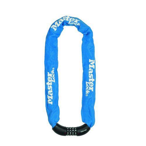 Řetězový kombinační zámek na kolo Master Lock 8mm, modrý