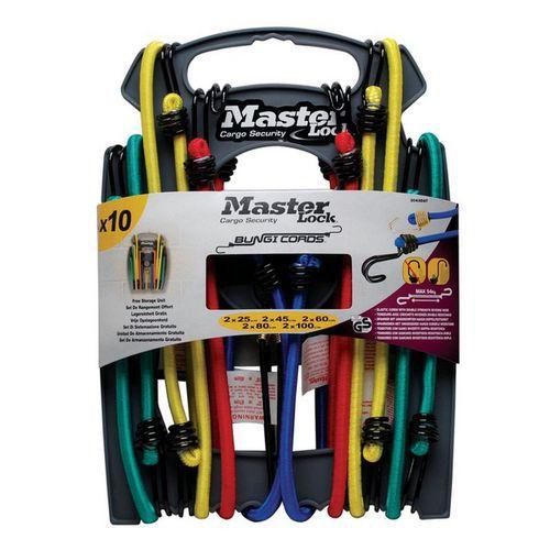 Set upínací gumy s háčky Master Lock, 10ks