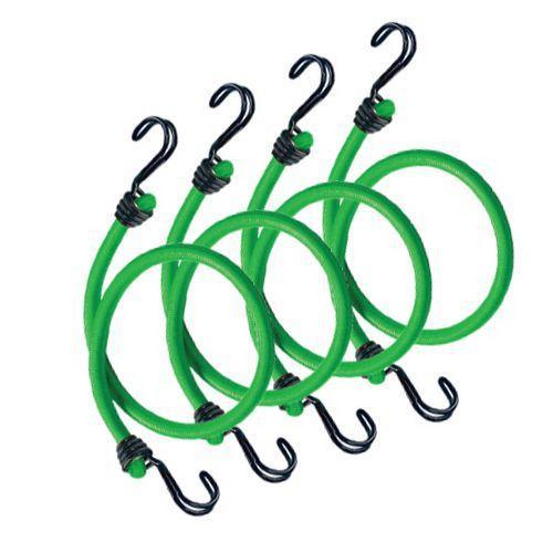 Set upínací gumy s háčky Master Lock 80cm, 4ks