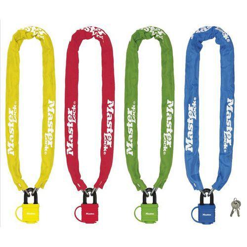 Řetězový zámek na kolo Master Lock 6mm, mix barev, 6ks
