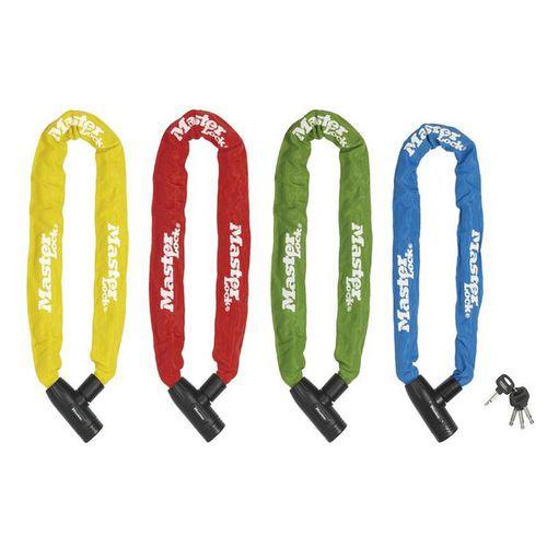 Řetězový zámek na kolo Master Lock 8mm, mix barev 6ks