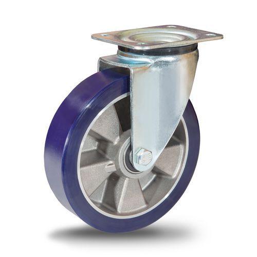 Polyuretanové transportní kolo s přírubou, průměr 125 mm, otočné