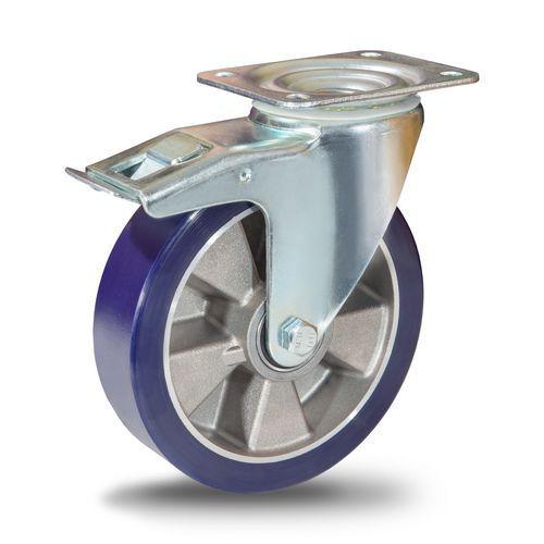 Polyuretanové transportní kolo s přírubou, průměr 200 mm, otočné