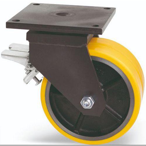 Dvojité polyuretanové transportní kolo s přírubou, průměr 300 mm