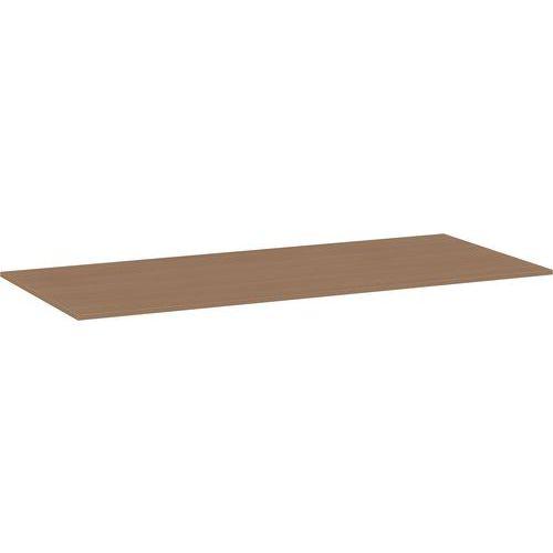 Univerzální deska ke kancelářským stolům, 180 x 80 x 2,5 cm, ABS 2 mm, buk - Prodloužená záruka na 10 let
