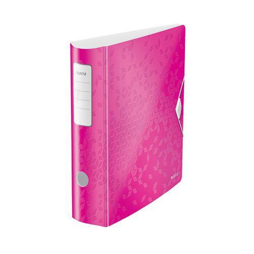 Pákový pořadač Leitz 500, růžový
