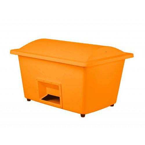 Nádoba na zimní posyp, 1 100 l, oranžová