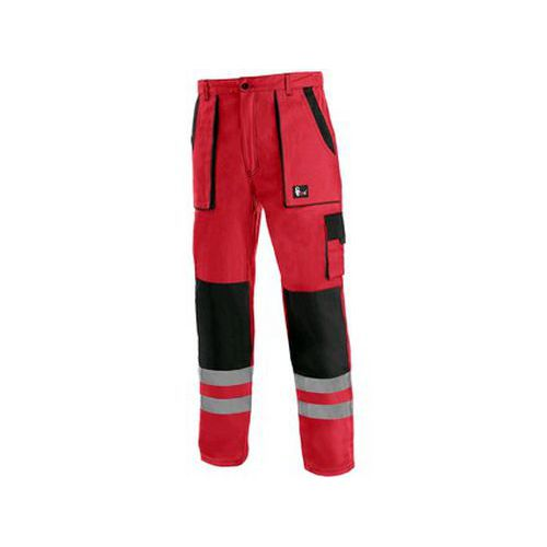 Kalhoty CXS LUXY BRIGHT, pánské, červeno-černé, vel. 60