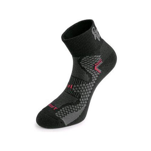 Ponožky CXS SOFT, černo-červené