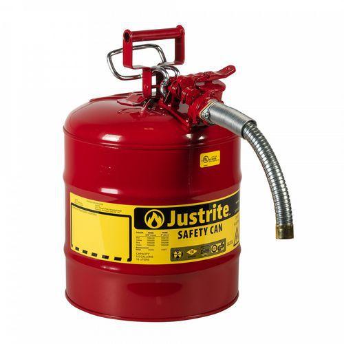 Bezpečnostní nádoba na hořlaviny Justrite s hadicí, červená, 19