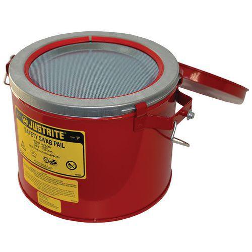 Bezpečnostní nádoba na hořlaviny Justrite na mytí nářadí, červen