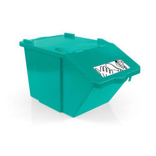 Odpadkový koš na tříděný odpad TTS, objem 45 l, zelený