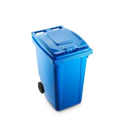 Plastová popelnice Benny na tříděný odpad, objem 360 l, modrá