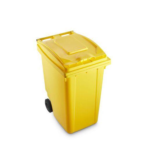 Plastová popelnice Benny na tříděný odpad, objem 360 l, žlutá