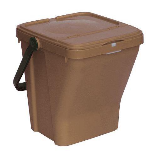 Odpadkový koš Rolland na tříděný odpad, objem 35 l, hnědý