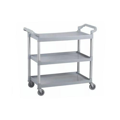 Úklidový policový vozík s dvěma madly, do 90 kg