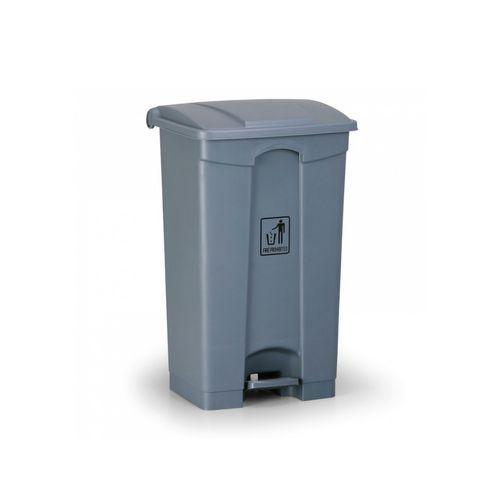 Plastový odpadkový koš Leo, objem 87 l, šedý