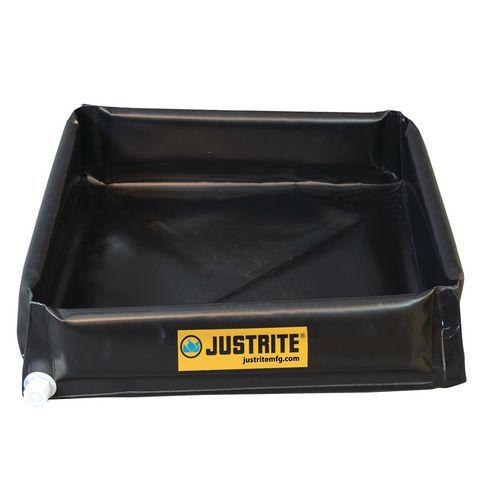Záchytná nádrž Justrite MINI-BERM, černá, 208 l