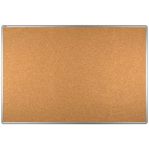 Korkový oboustranný paraván ekoTAB 100 x 150 cm, elox