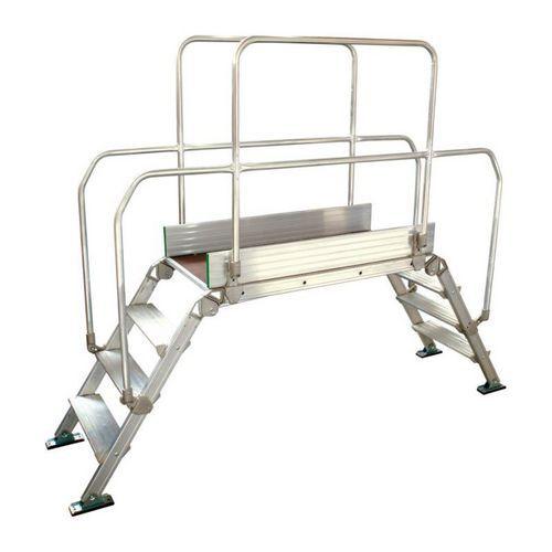 Hliníkový přemosťovací žebřík Facal, plošina 120 x 53 cm, 2 x 3