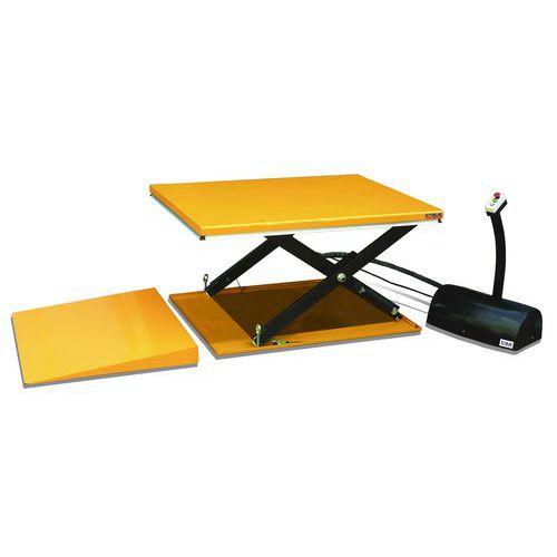 Hydraulický zvedací stůl Kraus s nájezdovou rampou, do 1 000 kg,