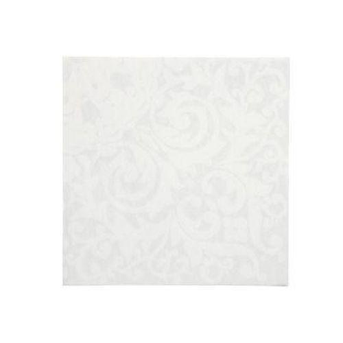 Ubrousky textilního charakteru Tork 39x39 bílé s perlovým dekorem, 50ks