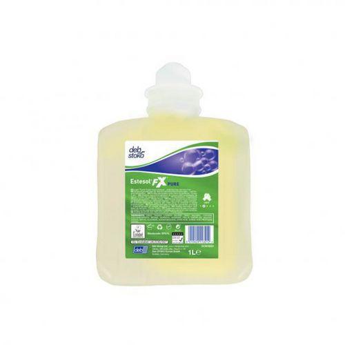Tekuté mýdlo v pěně Deb Estesol FX Pure pro slabé průmyslové znečištění 1l