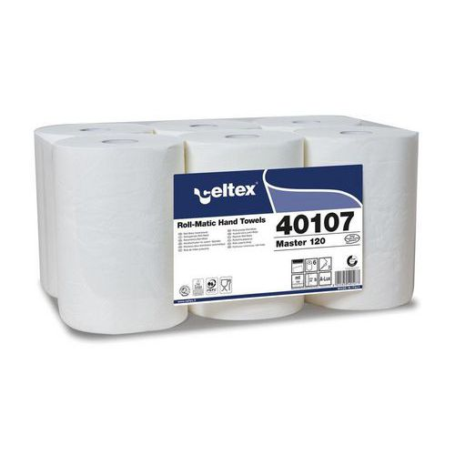 Papírové ručníky v Matic roli Celtex Master 120 bílé, 6ks