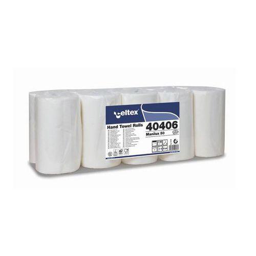 Papírové ručníky v roli Celtex ManiLux 50, bílé, 10ks