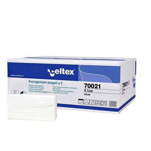 Papírové ručníky skládané Celtex C-LUX 2vrstvy, 3040ks
