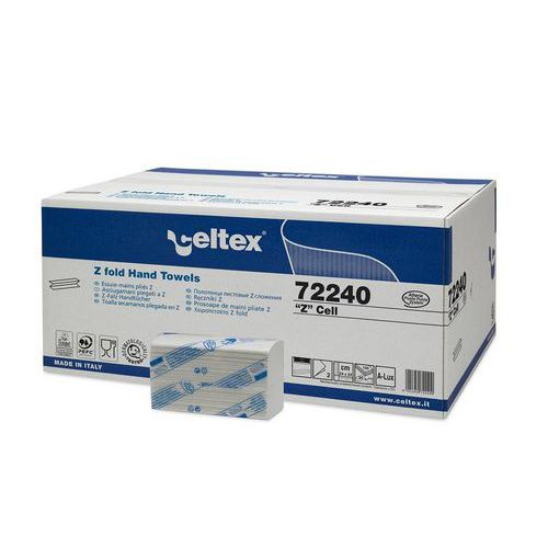 Papírové ručníky skládané Celtex Z-Cell 2vrstvy, 3750ks