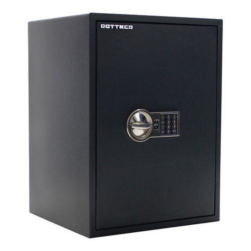 Rottner Nábytkový trezor Power Safe s elektronickým zámkem, bezpečnostní třída S2 + dárek LED senzorové světlo, 60 x 44,5 x 40 cm - Prodloužená záruka na 10 let