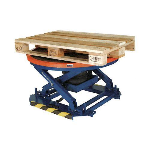 Automatický zvedací stůl Kraus pro palety, do 2 000 kg, deska 11