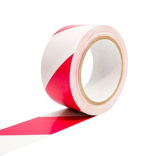 Podlahová páska C-tape, šířka 50 mm, bílá/červená