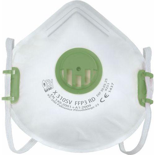 Opakovaně použitelný respirátor, stupeň ochrany FFP3, balení 10 ks