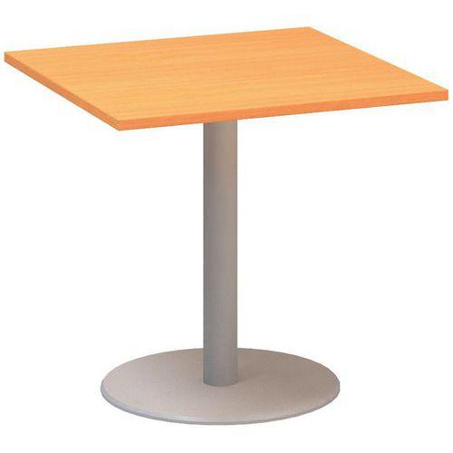 Alfa Office Konferenční stůl Alfa 400, 80 x 80 x 74,2 cm, dezén buk Bavaria - Prodloužená záruka na 10 let