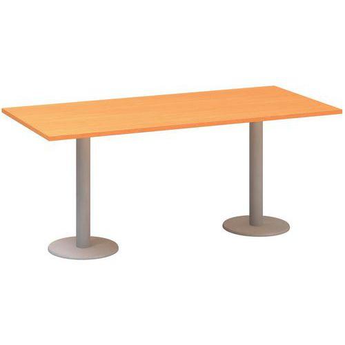Alfa Office Konferenční stůl Alfa 400, 180 x 80 x 74,2 cm, dezén buk Bavaria - Prodloužená záruka na 10 let